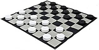 MegaChess Giant Checkers Set and Giant Checkers Mat - 10 inch