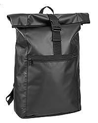 noorsk XXL Rucksack aus LKW Plane Rücken und Tragegurte mit Polsterung OneSize Schwarz