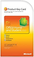Microsoft Office Home & Student 2010 Product Key Card- 1PC/1User [Download]
