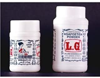 L.G. Asafoetida Hing Powder 3.5 Oz/100g. (Pack of 2)