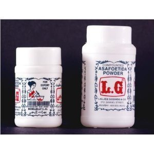 L.G. Asafoetida Hing Powder 3.5 Oz/100g. (Pack of 2)
