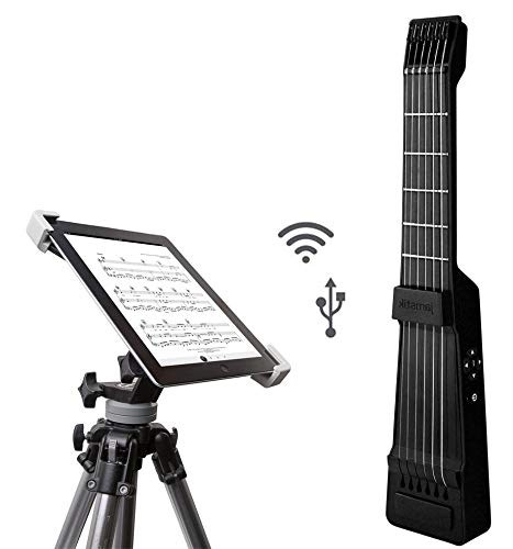 Cheap Zivix Jamstik 7 Portable App Enabled MIDI Electric Guitar for Beginners and Music Creators iOS Android & Mac Compatible w/Bluetooth Connectivity and Universal Tripod w/iPad Mounting Solution Black Friday & Cyber Monday 2019