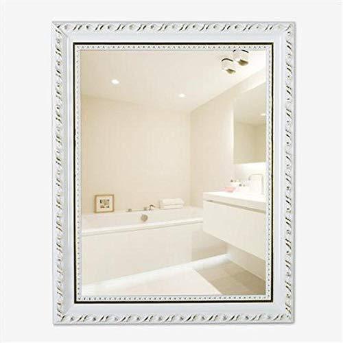 YBGW Standspiegel Groß Massivholzpaste Badezimmerspiegel Make-Up Dressing Toilette Toilette Toilettenwand Mit Rahmen Frei Stanzen