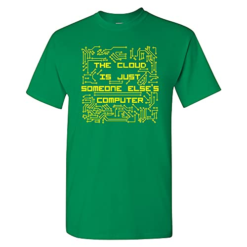 UGP Campus Apparel The Cloud is Just Someone Else's Computer - Camiseta Tech Geek, Turf Green, 3XL