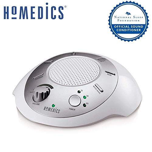 White Noise Sound Machine Portable Sleep Therapy for Home, Office,...