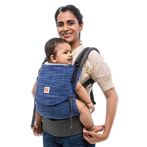 Kol Kol Baby Carrier Bag, 100% Hand Woven Cotton, Light-Weight, Safe & Ergonomic Baby Carry Bag with Hood & 2 Carry Positions, for...