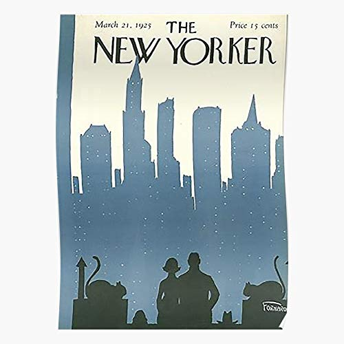 valungtung Retro Yorker Funky Vintage Magazine Covers 1925 New Popular Print Modern Typographic Poster Girl Boss Office Decor Motivational Poster Dorm Room Wall