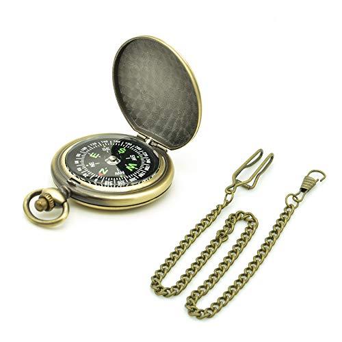Binken Kompass, Vintage Kompass Outdoor Kompass Retro Kompass Taschenuhr Kompass Werkzeuge für Camping Wandern Reiten