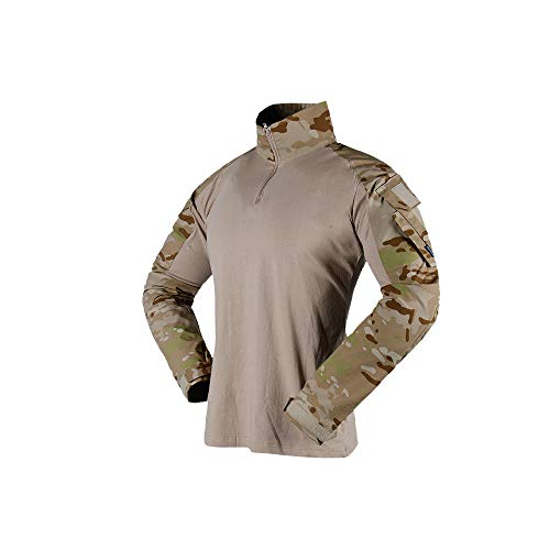 The Mercenary Company Elite Long Sleeve Combat Shirt 2019 Edition Multicam Arid XXXL