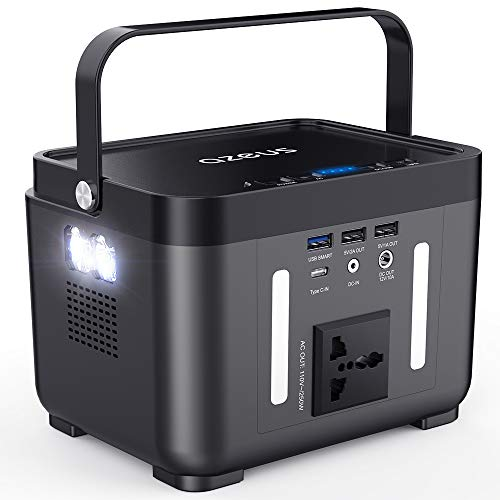 AZEUS Portable Power Station, 250 Wh Backup Battery Generator, Off-Grid Power Supply with 110V/250W (Peak 350W) AC Outlet for Outdoors Camping Travel Hunting CPAP Emergency