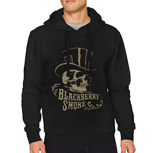 Dlovae Sudadera con Capucha Black Berry Smoke Men's Hoodie Sweatshirt
