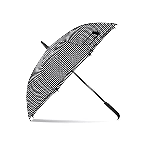 YNLRY Clásica moda pata de gallo mango largo automático paraguas hombres mujeres regalo grande viento resistente al aire libre viajes Golf paraguas lluvia