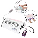 4 IN 1 Multi-functional Electric Nail Drill Machine Nail File Drill Pen Kit Nail Art Dust Suction Collector, 54W Nail Dryer Lamp Nail Gel Polish Art Tools for Acrylic Gel Nails(US Plug)