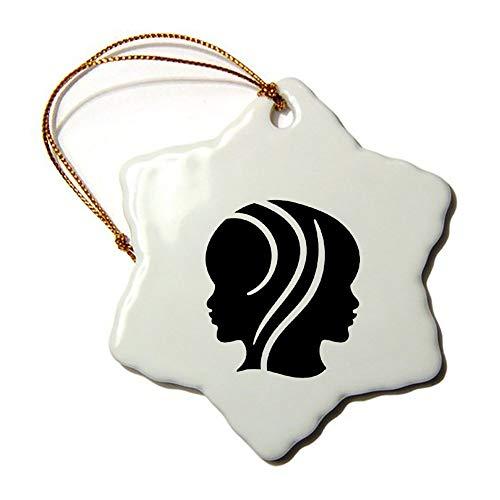 Weihnachts-Ornamente, Weihnachtsbaum-Ornament, Zwillings-Sternzeichen, beidseitig mit Stern aus Keramik