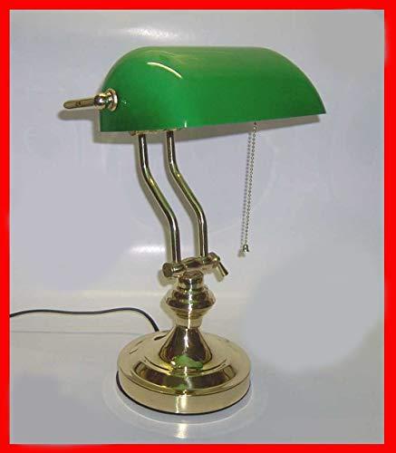 Lampada Inclinabile Tavolo Ministeriale Churchill Vetro Verde Catenella Regolabile PREZZO SPECIALE**