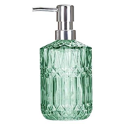 Amazon - Save 50%: TISUZXCV Hand Glass Soap Dispenser, 12 Oz Dish Liquid Soap Dispenser for Kitche…