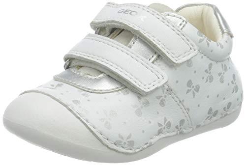 Geox B9440B0TUNF Bebé-Niñas, White, 20 EU