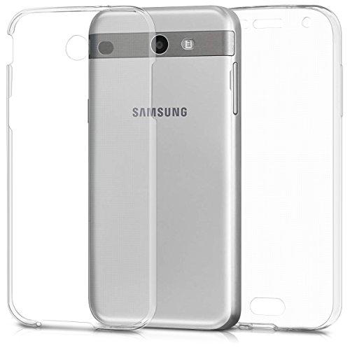 kwmobile Cover Compatibile con Samsung Galaxy J3 (2017) DUOS - Custodia in Silicone TPU Fronte Retro - Custodia Front Back Case Protezione Cristallina