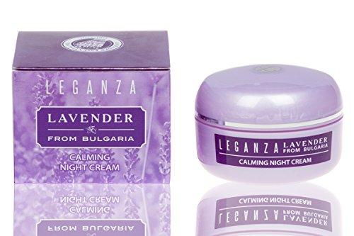 Leganza Beruhigende Nachtcreme mit Lavendel Bio ätherisches Öl und Mandelöl