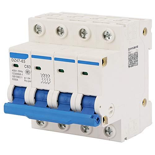 Interruttore automatico magnetotermico 400V / 63A DZ47-63 4P 6000A