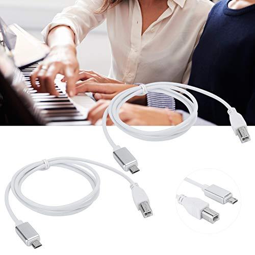 Snufeve6 Cable de Piano, línea de Piano Micro a Tipo B, Duradera...