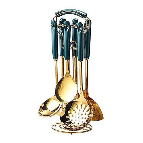 KJHD Utensilios de cocina Set de utensilios de cocina Estilo nórdico Acero inoxidable Herramientas de cocina Accesorios Utensilios de cocina Cuchara de herramientas especiales