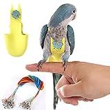 QBLEEV Couche de costume pour oiseaux avec laisse, réglable pour perroquet, couche durable avec lanière, pour conures, calopsittes, aras, gris du Gabon, perruches, cacatoès
