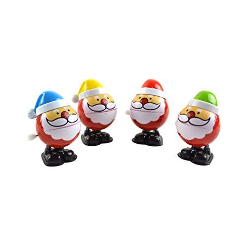 Juguetes Papa Noel para Niños TOYMYTOY Figura de Papa Noel de Navidad Juguetes de Resorte 4 Unidades