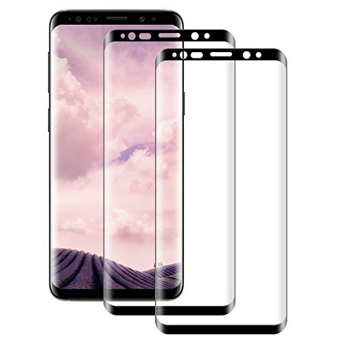 NUOCHENG 2 Unidades Cristal Templado para Samsung Galaxy S8 Plus/S8+, 3D Cobertura Completa, Anti Arañazos, Sin Burbujas Protector de Pantalla