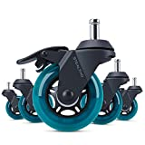 STEALTHO Replacement Office Chair Caster Wheels Set of 5 - Protect Your Floor -...