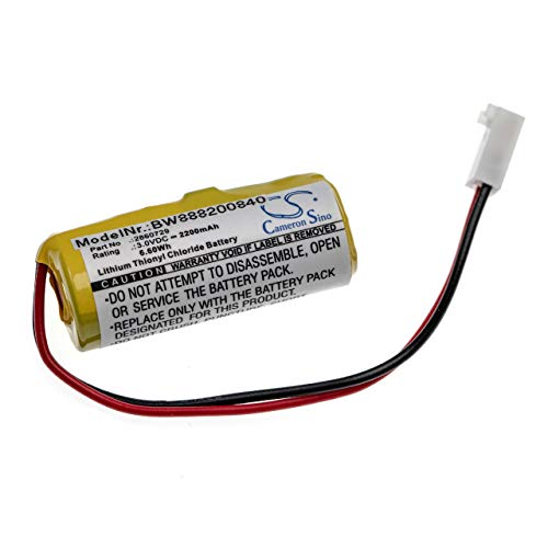 vhbw Bateria compatible con Alaris Medicalsystems 2860, 2863, 2865, 2866, III tecnologia medica como bomba de infusion (2200mAh, 3V, Li-SOCl2)