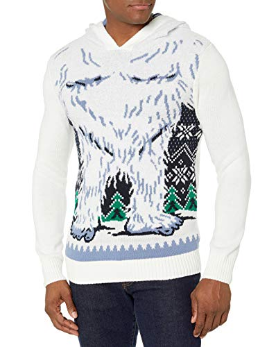 Ugly Christmas Sweater Men's Reindeer Hooded