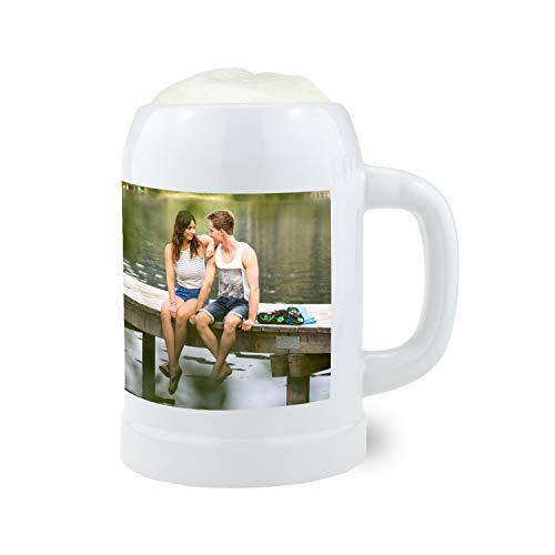 Bavariashop Steinkrug 0,5 Liter - personalisiert mit Wunschfoto - Fotokrug, individuell mit eigenem Foto