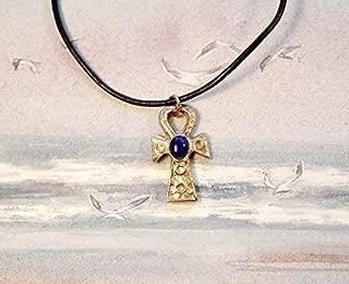 cha/îne en cuivre plaqu/é Argent Amulette avec cha/îne et Pendentif en Forme de Druiden
