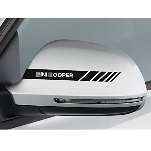 MYlnb para Mini Cooper R56 R53 R50 F56 F54 F57 F55 F60 R57 R58 R59 R60, Pegatinas de decoración de Cubierta de Espejo retrovisor de Coche Pegatinas de Vinilo de Coche