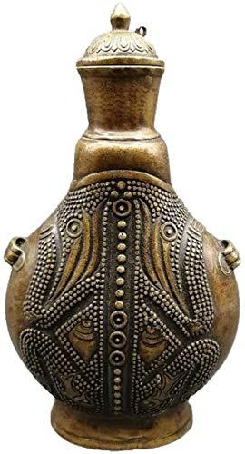 JLXQL Estatuas Olla de Cobre Antigua decoración Escritorio gabinete de Vino exhibición Ceremonia del té artesanía decoración del hogar
