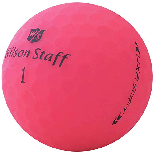 lbc-sports 24 Wilson Staff Dx2 / Duo Soft Optix Golfbälle - AAAAA - PremiumSelection - Pink - Mattes Finish - Lakeballs - gebrauchte Golfbälle - im Netzbeutel