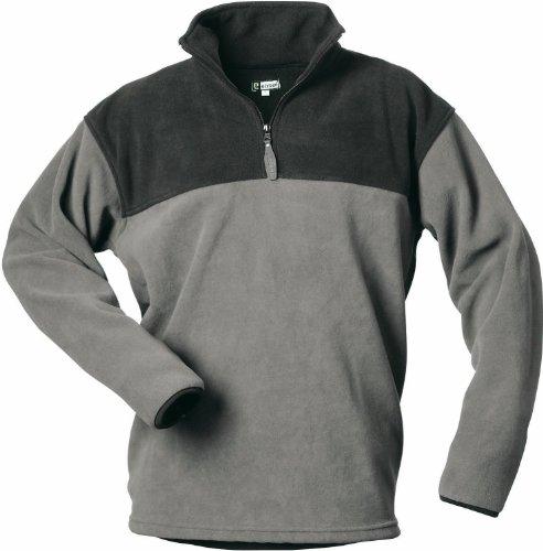 CRAFTLAND Fleece Shirt Merlin - grau/schwarz abgesetz - Größe: M