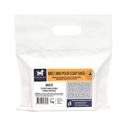 FORBURY DIRECT · ENGLAND · Glycerinseife Opak – Rohseife Weiße Seifenbasis 1kg (SLS-frei) (1 kg)
