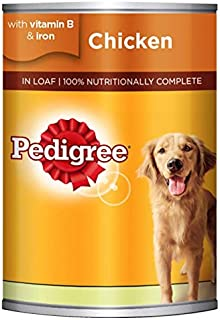 Pedigree Chicken Loaf, Wet Dog Food, Can, 400 gm