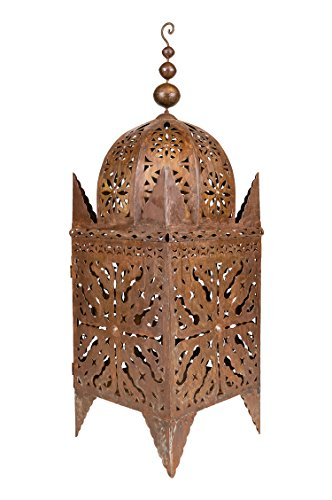 Farol oriental oxidado de metal Frane de 80 cm grande | Farol...