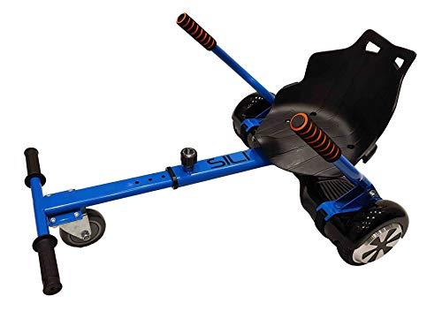 """SILI Kart - Accesorio Gokart Gocart Buggy Ajustable para Adaptarse a la Scooter eléctrico Inteligente de Auto Equilibrio de 2 Ruedas - Se Adapta a 6.5"""", 8"""" y 10"""" (Azul)"""
