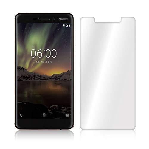 GranadaTech® Pellicola Protettiva Vetro Temperato per Nokia 6.1 [Non Coprire l'intero Schermo] I Pellicola in Vetro, HD Trasparenza, Resistenza agli Urti, 100% Senza Bolle, Spessore 0.3 mm
