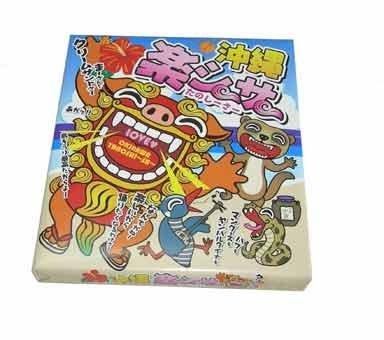 沖縄 楽シーサー (大) 36個入×5P 大藤 カラフルでにぎやかなパッケージ 小ぶりで食べやすいクリームサンドのウエハース 沖縄土産におすすめ