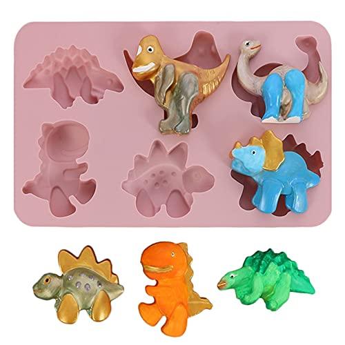 Stampi per dolci per forme da forno, stampi per muffin riutilizzabili in silicone, produzione di caramelle fondente fai da te Dinosauro