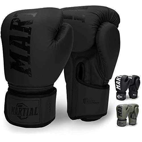 Martial Guantes de Boxeo Hechos del Mejor Material para Larga Durabilidad –...