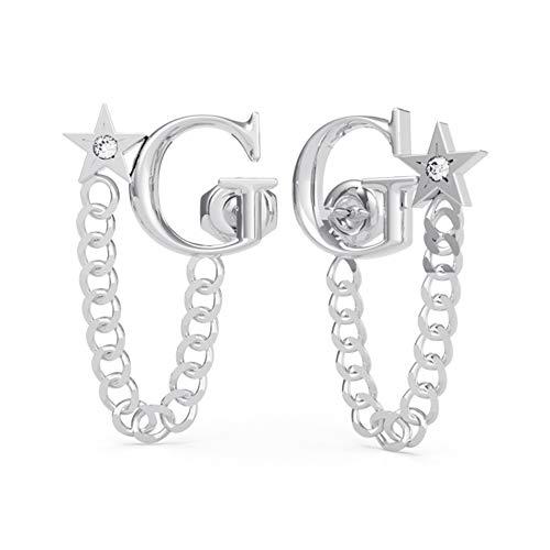 Guess Jewellery Damen-Ohrringe A Star Is Born mit Swarovski-Kristallen silber