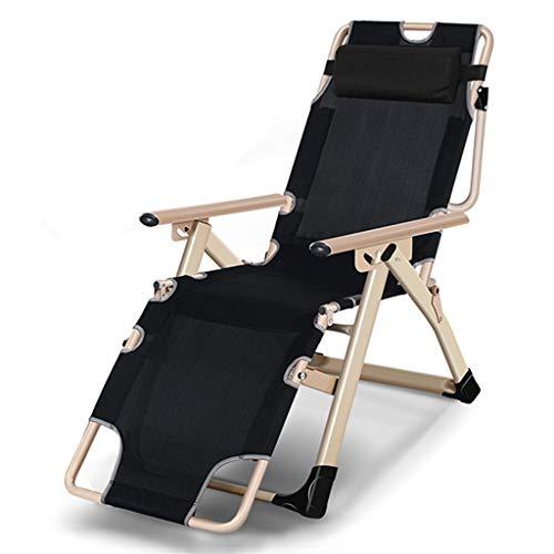 Patio Zero Gravity Chaise Extérieure Réglable Pliant Verrouillage Chaises Longues Lit De Campement Bureau Simple Lit Siesta en Textoline