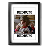 Redrum Danny Torrance シャイニング フレーム装飾画 背景絵画 壁の絵 ソファの背景絵画 タペストリー 客間絵画 ポスター 木枠付きの完成品 おしゃれ プレゼント (サイズ30*40cm)