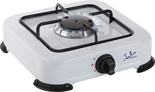 Jata CC703 Cocina de Gas para Camping con 1 Quemador Con Parrilla Apta para Todo Tipo de Ggas Licuado